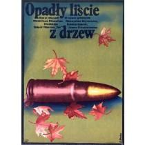 Laub fiel von den Bäumen Stanisław Różewicz Elżbieta Procka Polnische Plakate
