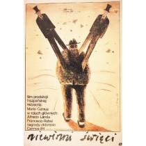 Heiligen Narren Mario Camus Jaime Carlos Nieto Polnische Plakate