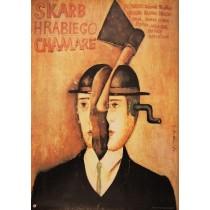 Schatz des Grafen Chamare Zdenek Troska Jaime Carlos Nieto Polnische Plakate