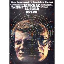 Tür hinterher schließen Krzysztof Szmagier Janusz Obłucki Polnische Plakate