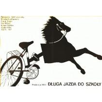 Lange Ritt zur Schule Rolf Losansky Elżbieta Procka Polnische Plakate
