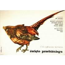 Wildschwein ist los Jiri Menzel Elżbieta Procka Polnische Plakate