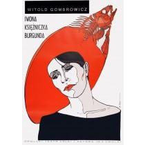 Yvonne, die Burgunderprinzessin Bolesław Polnar Polnische Plakate