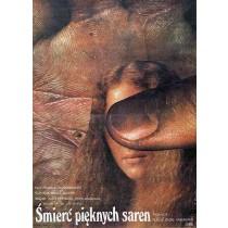 Tod der schönen Rehe Elżbieta Procka Polnische Plakate