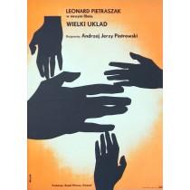 Wielki układ Tomasz Rumiński Polnische Plakate