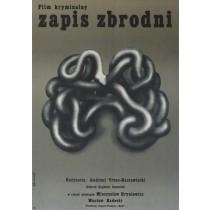 Chronik eines Verbrechens Tomasz Rumiński Polnische Plakate