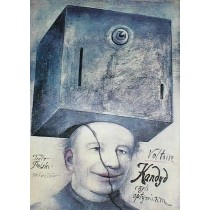 Candide oder der Optimismus Voltaire Wiktor Sadowski Polnische Plakate