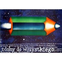 Ich habe das Perpetuum mobile erfunden Romuald Socha Polnische Plakate