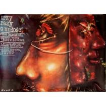 Dreimal über die Liebe Romuald Socha Polnische Plakate