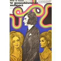 Auf der Suche nach Liebe Marian Stachurski Polnische Plakate