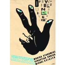 Drei von Fünf und nicht von Zehn Monika Starowicz Polnische Plakate