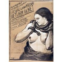 Rückfahrkarte Ewa, Czesław Petelski Franciszek Starowieyski Polnische Plakate