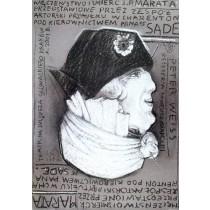 Märtyrium und Tod des J.P. Marat Franciszek Starowieyski Polnische Plakate