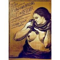 Rückfahrkarte Ewa Petelska, Czesław Petelski Franciszek Starowieyski Polnische Plakate