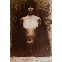 Frau im Plakat Franciszek Starowieyski Polnische Plakate