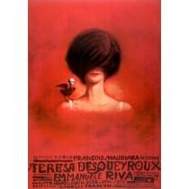 Die Tat der Therese D. Georges Franju Franciszek Starowieyski Polnische Plakate