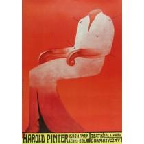 Liebhaber Ein leichter Schmerz Harold Pinter  Franciszek Starowieyski Polnische Plakate