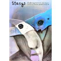 Stasys Eidrigevicius in der Galerie BWA Bielsko-Biala Stasys Eidrigevicius Polnische Plakate