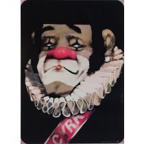 Zirkus Clown mit Krause Waldemar Świerzy Polnische Plakate