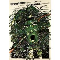 Greystoke: Die Legende von Tarzan, Herr der Affen Waldemar Świerzy Polnische Plakate