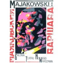 Majakowski - Warschau Waldemar Świerzy Polnische Plakate