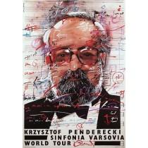 Krzysztof Penderecki Sinfonia Varsovia Waldemar Świerzy Polnische Plakate