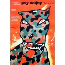 Hunde des Krieges John Irvin Waldemar Świerzy Polnische Plakate