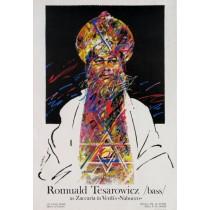 Romuald Tesarowicz in Nabucco Waldemar Świerzy Polnische Plakate