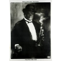 King Oliver Jazz Greats Waldemar Świerzy Polnische Plakate