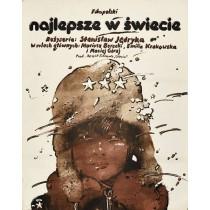Wolf für meinen Leutnant Waldemar Świerzy Polnische Plakate