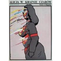 Alice im Wunderland Waldemar Świerzy Polnische Plakate