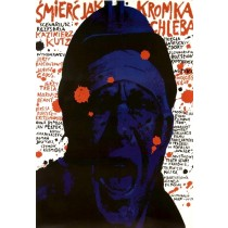 Tod gleicht einer Brotscheibe Waldemar Świerzy Polnische Plakate