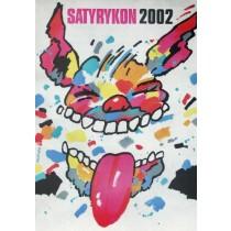 Satyrykon 2002 Waldemar Świerzy Polnische Plakate