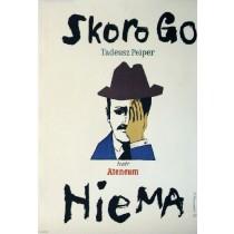 Wenn er nicht da ist Henryk Tomaszewski Polnische Plakate