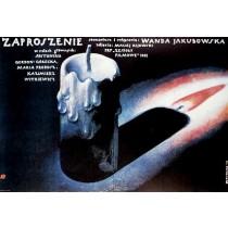 Einladung Wanda Jakubowska Wiesław Wałkuski Polnische Plakate