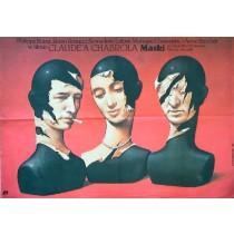 Masken Claude Chabrol Wiesław Wałkuski Polnische Plakate