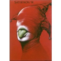 Satyrykon 1991 Wiesław Wałkuski Polnische Plakate