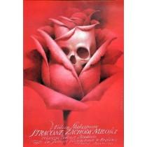 Verlorene Liebesmüh Liebes Leid und Lust Wiesław Wałkuski Polnische Plakate