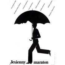 Marathon im Herbst Georgi Daneliya Mieczysław Wasilewski Polnische Plakate