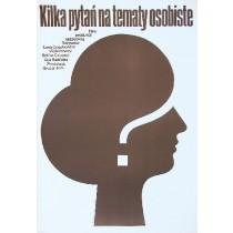 Einige persönliche Fragen Lana Gogoberidze Mieczysław Wasilewski Polnische Plakate