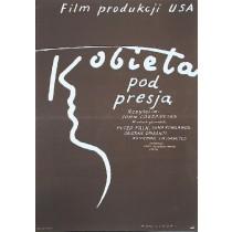 Eine Frau unter Einfluß Mieczysław Wasilewski Polnische Plakate