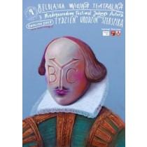Shakespeares Geburtstagswoche Leszek Żebrowski Polnische Plakate