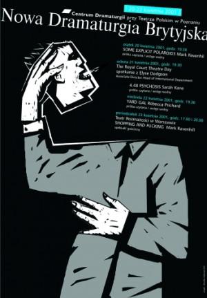 Neue britische Dramaturgie Mirosław Adamczyk Polnische Plakate