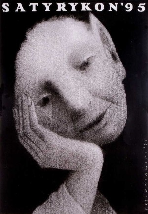 Satyrykon 1995 Jerzy Czerniawski Polnisches Ausstellungsplakat
