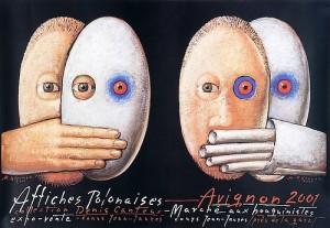 Affiches Polonaises 2001 Mieczysław Górowski Polnisches Ausstellungsplakat