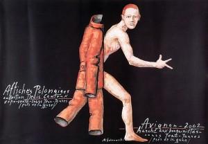 Avignon Affiches Polonaises 2002 Mieczysław Górowski Polnisches Ausstellungsplakat