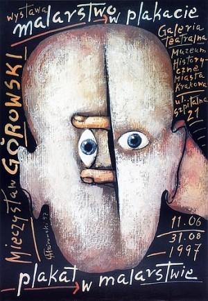 Malerei im Plakat Mieczysław Górowski Polnisches Ausstellungsplakat