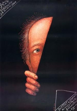 Portrait in Gorowskis Plakaten Mieczysław Górowski Polnisches Ausstellungsplakat