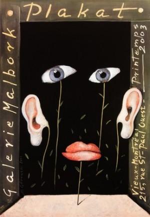 Plakate Galerie Malbork Mieczysław Górowski Polnisches Ausstellungsplakat