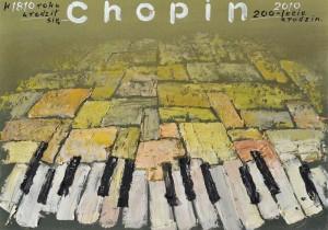 Frederic Chopin 1810 – 2010 Mieczysław Górowski Polnisches Musikplakat